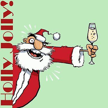 Holly Jolly Santa by viCdesign