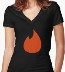 Tinder - App of the Year Women's Fitted V-Neck T-Shirt