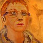 Acrylic Self Portrait II by hickerson