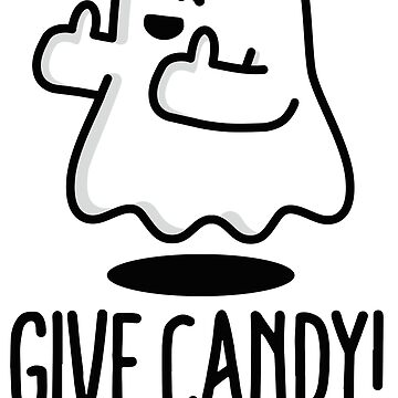 Halloween, Ghost, Give Candy That's the spirit funny trick or treat spirit Cartoon by LaundryFactory