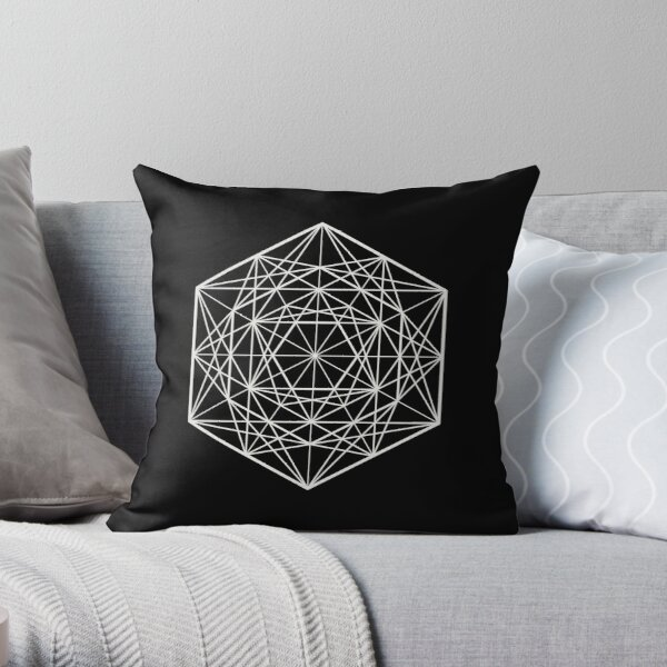 Geometric Mandala (White) Throw Pillow