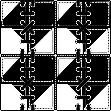 Pattern - laces and squares -Black 'n White! by timothybeighton