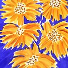 Yellow on Blue  by Charisse Colbert