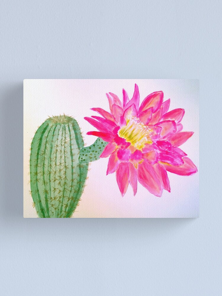 Alternate view of Cactus Bloom Canvas Print