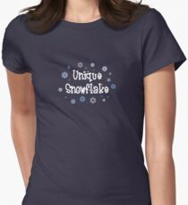 Unique Snowflake Womens Fitted T-Shirt