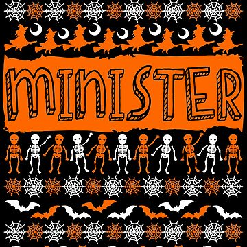 Cool Minister Ugly Halloween Gift by BBPDesigns