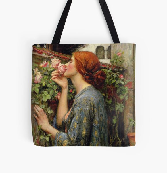 The Soul of the Rose -  John William Waterhouse All Over Print Tote Bag