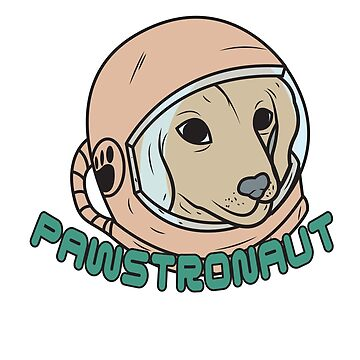 Dog Paw Space Astronaut Laika Hero by MyShirt24