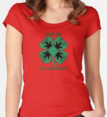 Kiss Me I'm Highrish Women's Fitted Scoop T-Shirt