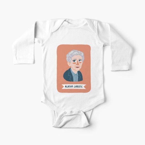 Agatha Christie Body de manga larga para bebé