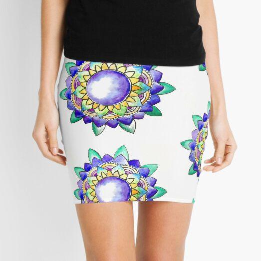 Watercolor Mandala  Mini Skirt