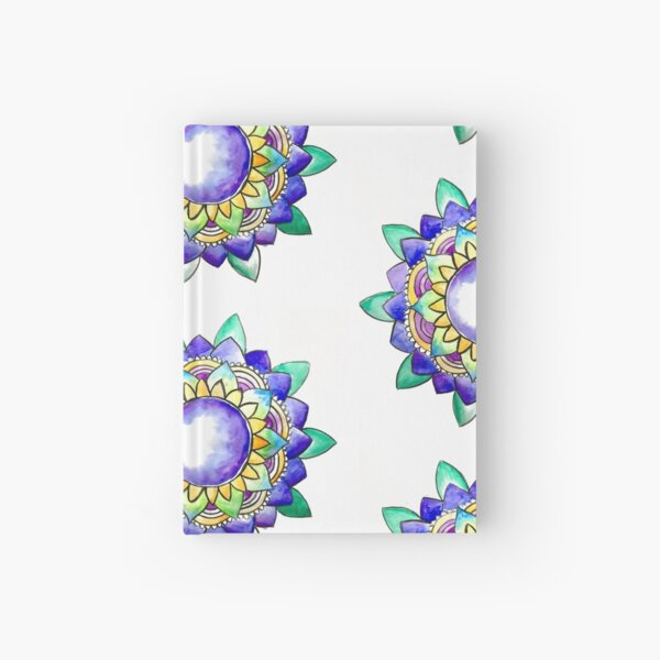 Watercolor Mandala  Hardcover Journal