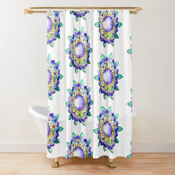 Watercolor Mandala  Shower Curtain