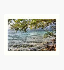 Lake Water Art Print