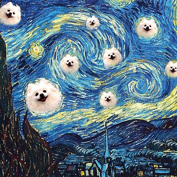 pomeranian starry night by FandomizedRose