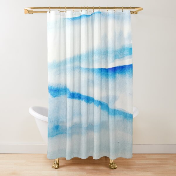 Snowy Hills and Soaring Skies Shower Curtain
