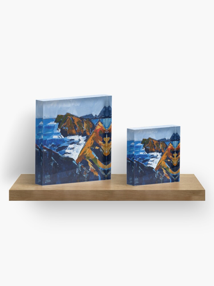 Alternate view of Rocky Surf Acrylic Block