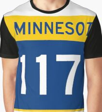 Minnesota Trunk Highway MN 117 wide | United States Highway Shield Sign Sticker Graphic T-Shirt