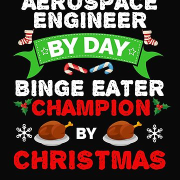 Aerospace Engineer  by day Binge Eater by Christmas Xmas by losttribe