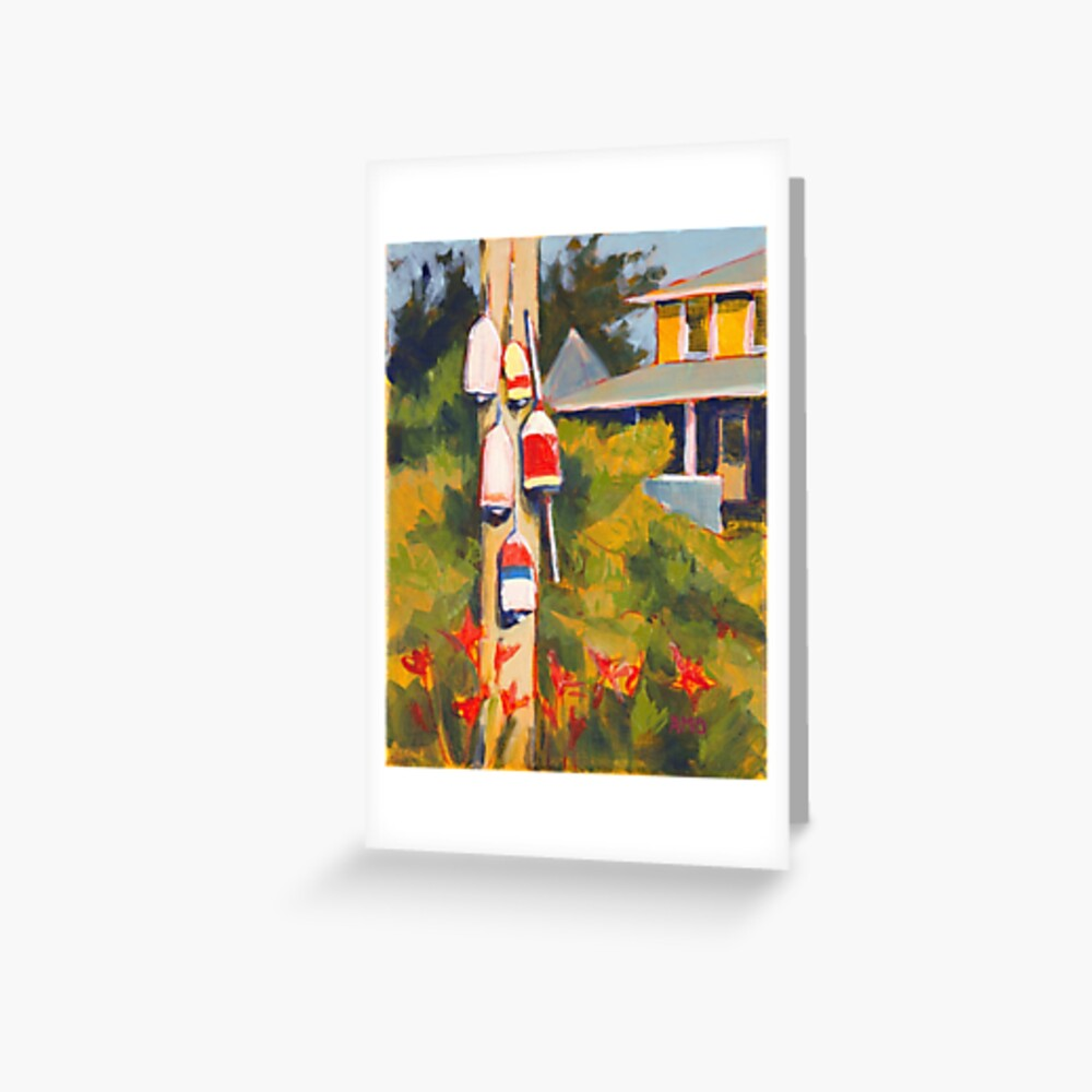 Buoys on a Telephone Pole Greeting Card