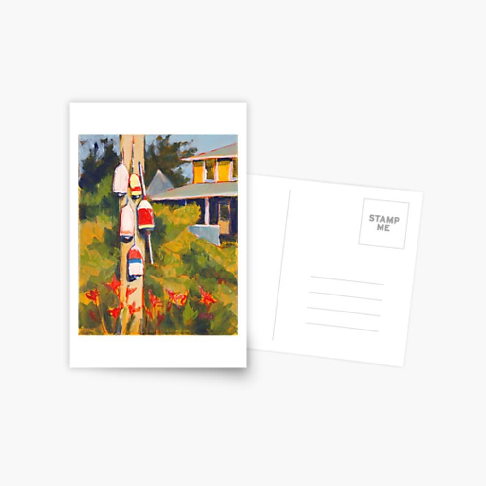 Buoys on a Telephone Pole Postcard