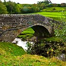 Packhorse Bridge - River Swale by Trevor Kersley