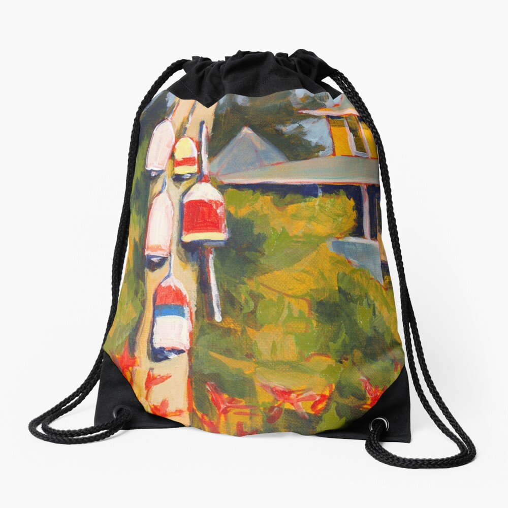 Buoys on a Telephone Pole Drawstring Bag