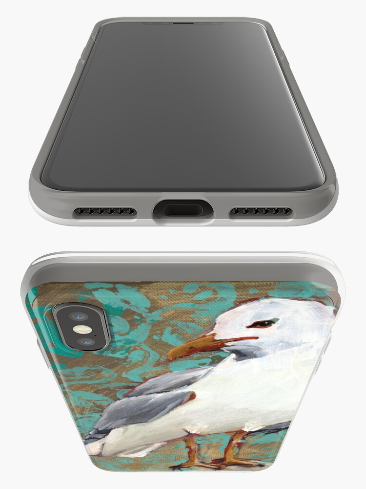 Alternate view of Seagull with Aqua Pattern 1 of 2 iPhone Case & Cover