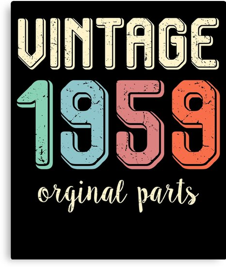 Vintage Retro 1959 60 Years Old 60th Birthday Gift T Shirt By Plistshirts