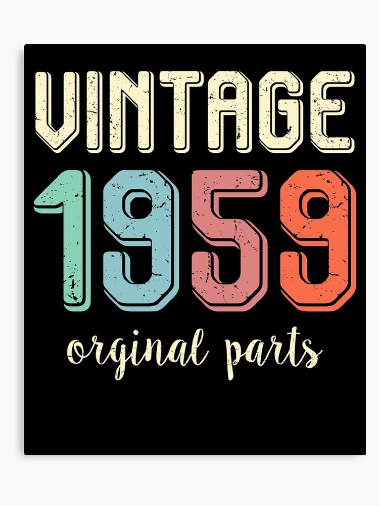 Vintage Retro 1959 60 Years Old 60th Birthday Gift T Shirt Canvas Print