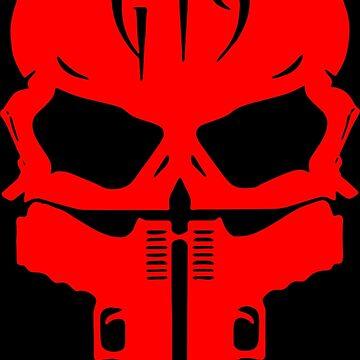 G19 Red Skull and Guns by FayeLangoulant