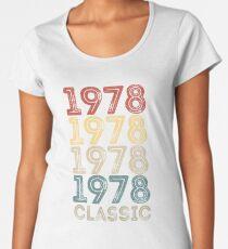 1978 Classic Vintage Retro Cool 40th Birthday  Women's Premium T-Shirt