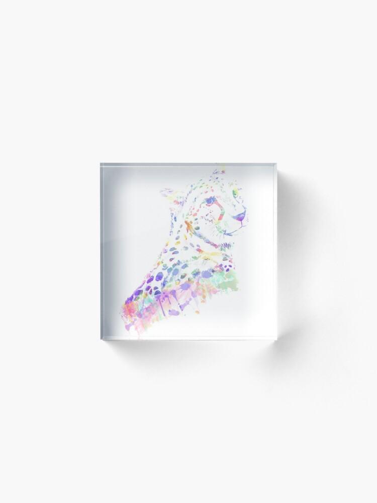 Alternative Ansicht von Aquarell Gepard Acrylblock