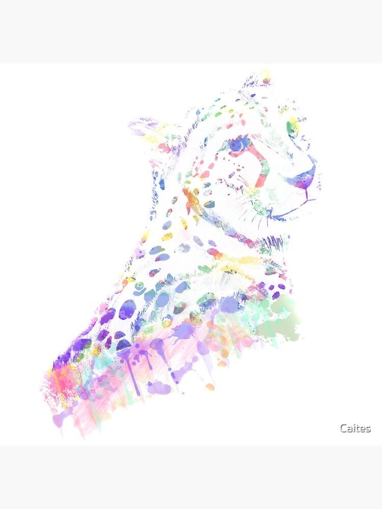 Aquarell Gepard von Caites