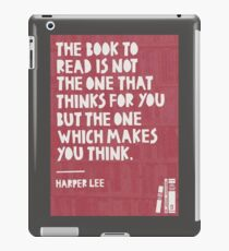 A Book that Makes You Think iPad Case/Skin