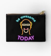 80s Neon Im Totally So Big Be Awesome Today Kid Mens T Shirt Studio Pouch