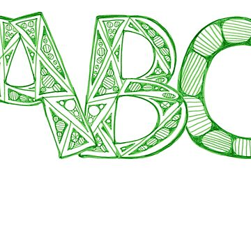 Green ABC by KazM