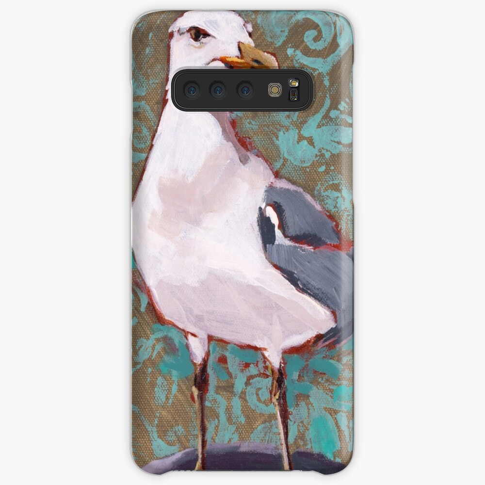 Seagull with Aqua Pattern 2 of 2 Case & Skin for Samsung Galaxy