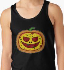 Pizza Halloween - Funny Pumpkin Pizza Face Men's Tank Top
