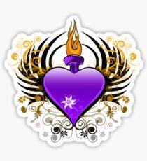 Flaming Heart Sticker