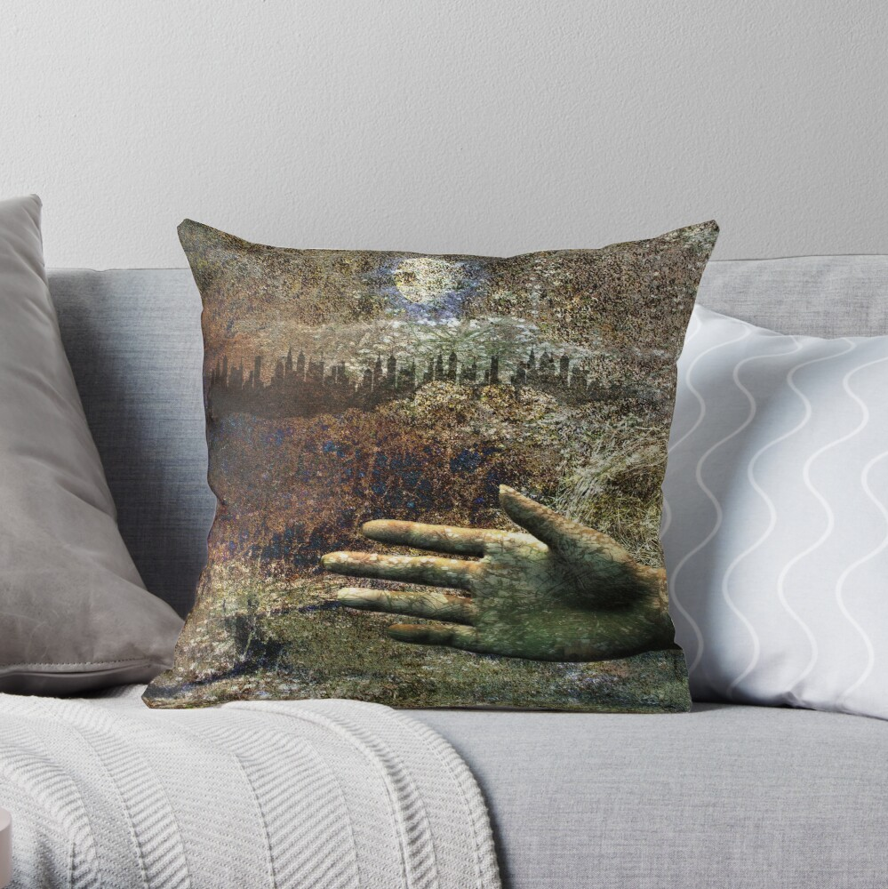 Nature and Society Throw Pillow