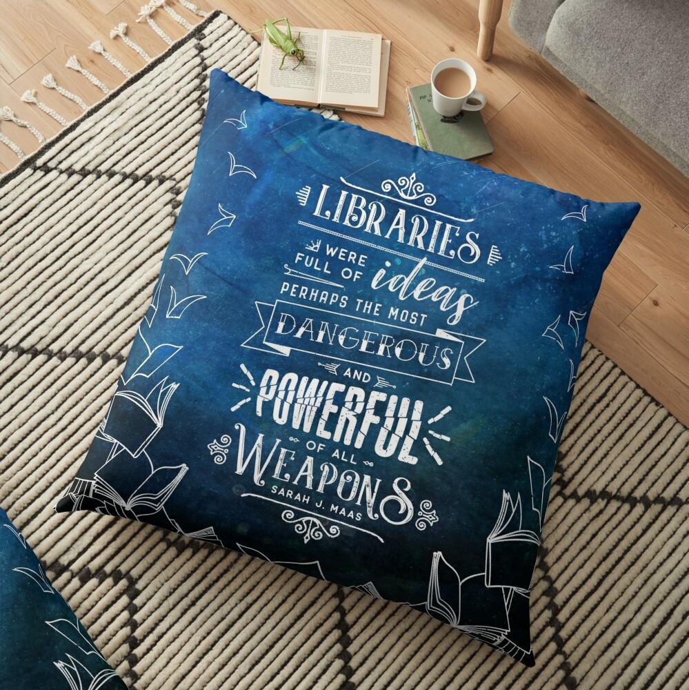 Libraries Floor Pillow