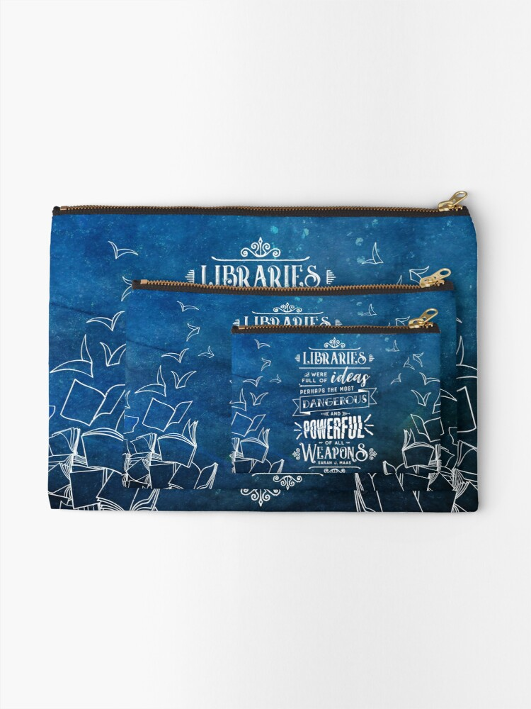 Alternate view of Libraries Zipper Pouch