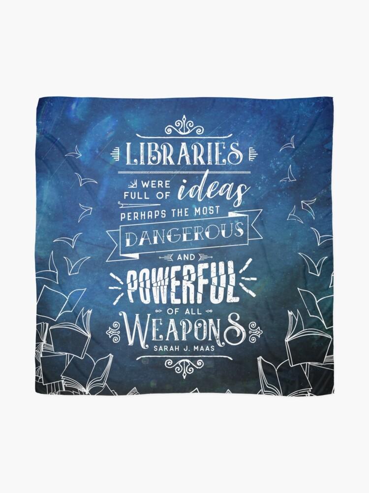 Vista alternativa de Pañuelo Bibliotecas