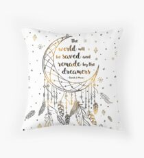 The world will be saved Throw Pillow
