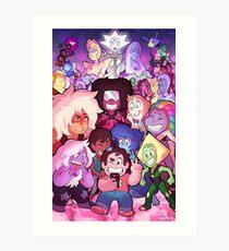 Steven Universe Family Portrait Art Print