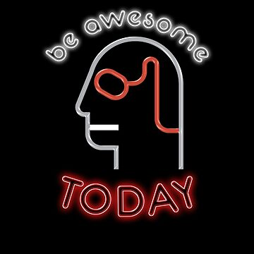 80s Neon Im Totally So Big Be Awesome Today Kid Mens T Shirt by KiRUS