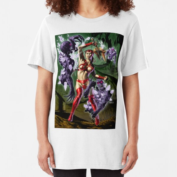 Lady Sheenah Amazon Warrior (Color) Slim Fit T-Shirt