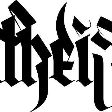 atheist (black) by loneleon