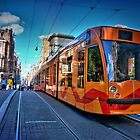 Tram in Amsterdam by CameliaC